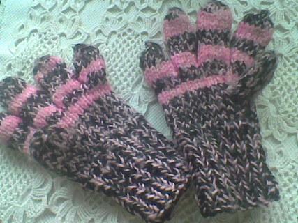 FOTKA - pletené rukavičky moje práce