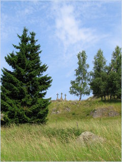 FOTKA - Tři křížky v letní louce
