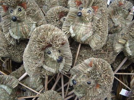 FOTKA - ježci ze slámy