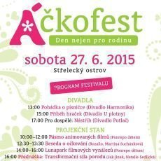 Áčkofest 2015 nabídne program pro celou rodinu