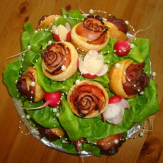 výroba jedlé kytice