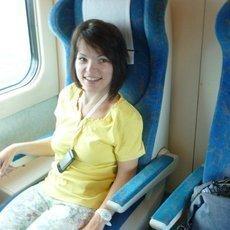 cestování vlakem na vozíku