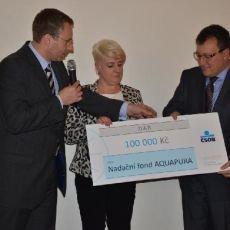 Nadační fond Aquapura oslavil své 3. výročí darem nových přístrojů