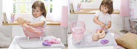 Baby Annabell koupání a přebalování