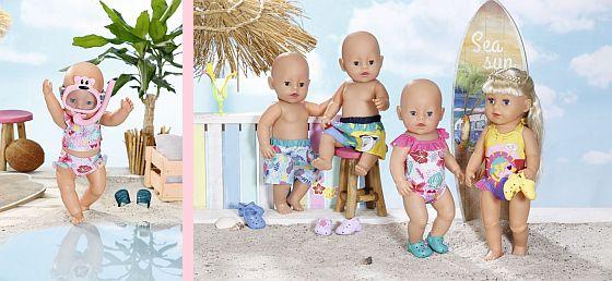 léto s BABY born na pláži
