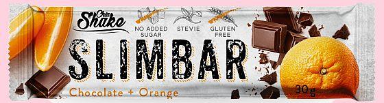 Dietní tyčinka SLIMBAR čokoláda+pomeranč