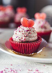 Valentýnské cupcake