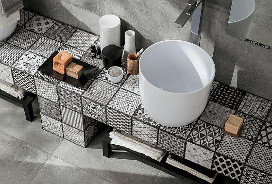 patchwork v koupelně