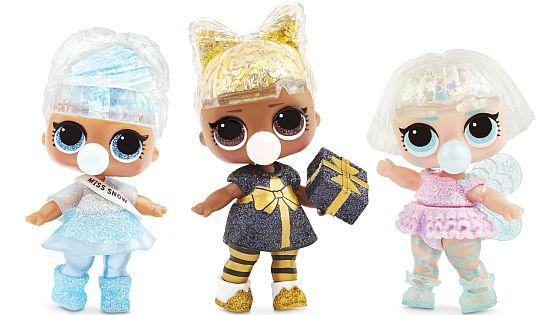 Zimní třpytkové panenky
