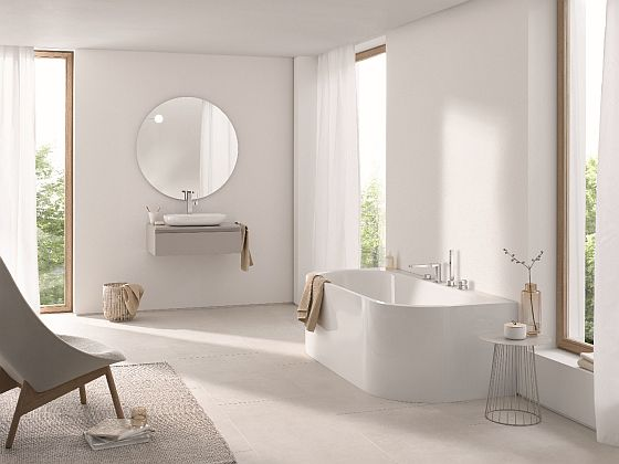 Výběr vany určuje dispozice koupelny
