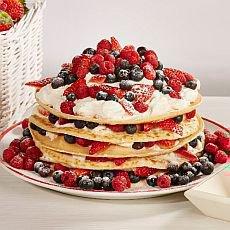Svátek svatého Valentýna - palačinkový dort