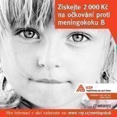 Získejte příspěvek 2 000 Kč na očkování proti meningokoku B