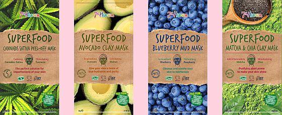 pleťové masky Superfood