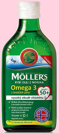 Möller's Omega 3 s citronovou příchutí