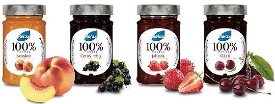 nové džemy Relax 100% ovoce