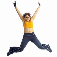 žena cvičí