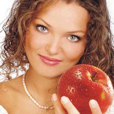 žena jablko