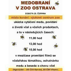 Ochutnávka medu a beseda o včelách na medobraní v ZOO Ostrava